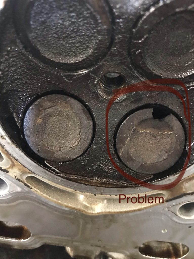 broken exhaust valve